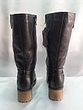 Комфортные зимние чёрные полусапожки,сапоги больших размеров Romax, фото 8