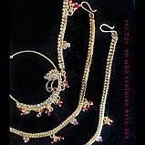 Кольцо для носа под золото, индийское украшение, пирсинг, фото 2