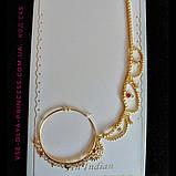 Кольцо для носа под золото, индийское украшение, пирсинг, фото 3