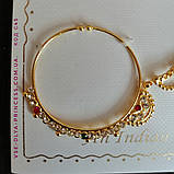 Кольцо для носа под золото, индийское украшение, пирсинг, фото 5
