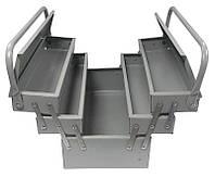 Ящик металлический MASTERTOOL 430 мм, 3 отделения (79-4303)