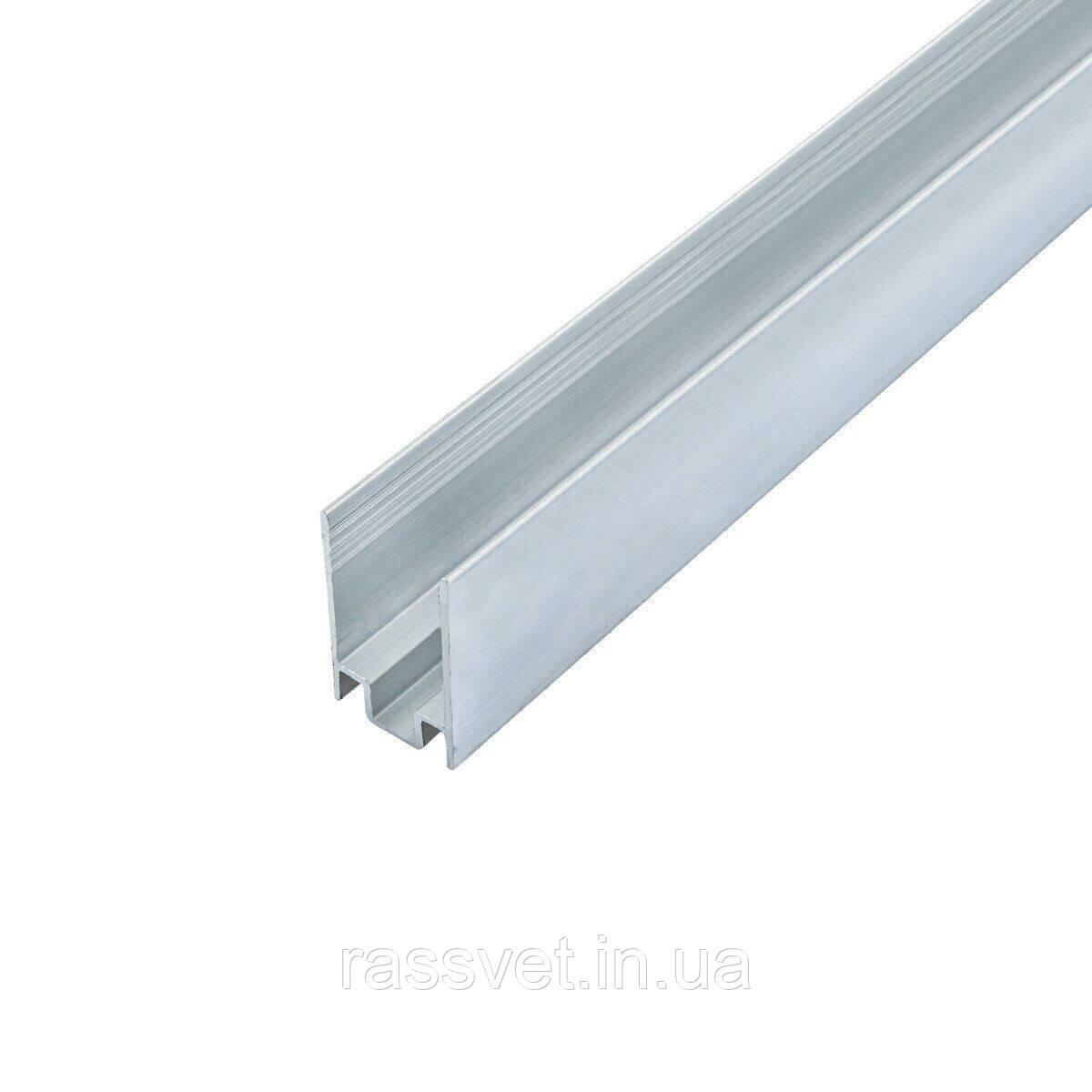 Профіль алюмінієвий ЛПН-16 анод для кріплення стрічки NEON 8*16, (палиця 2м) метр
