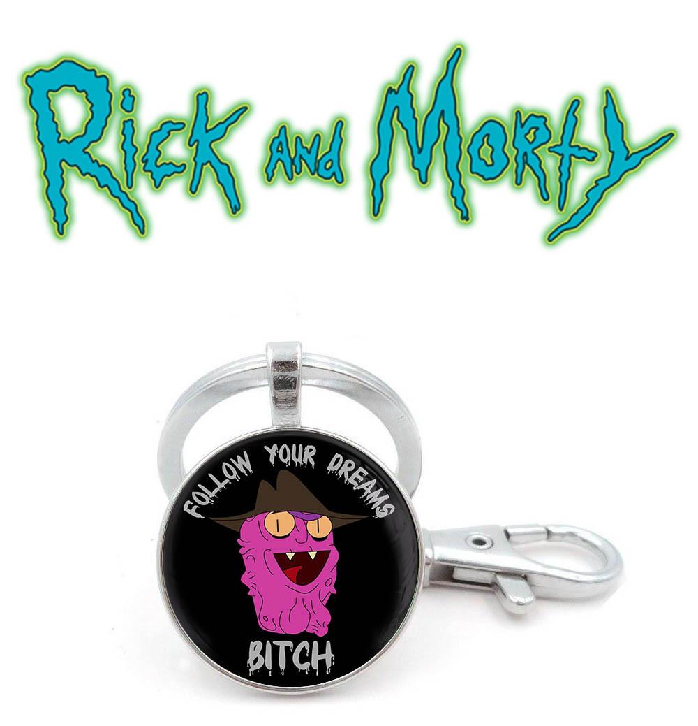 Брелок follow your dreams BITCH Рик и Морти / Rick and Morty