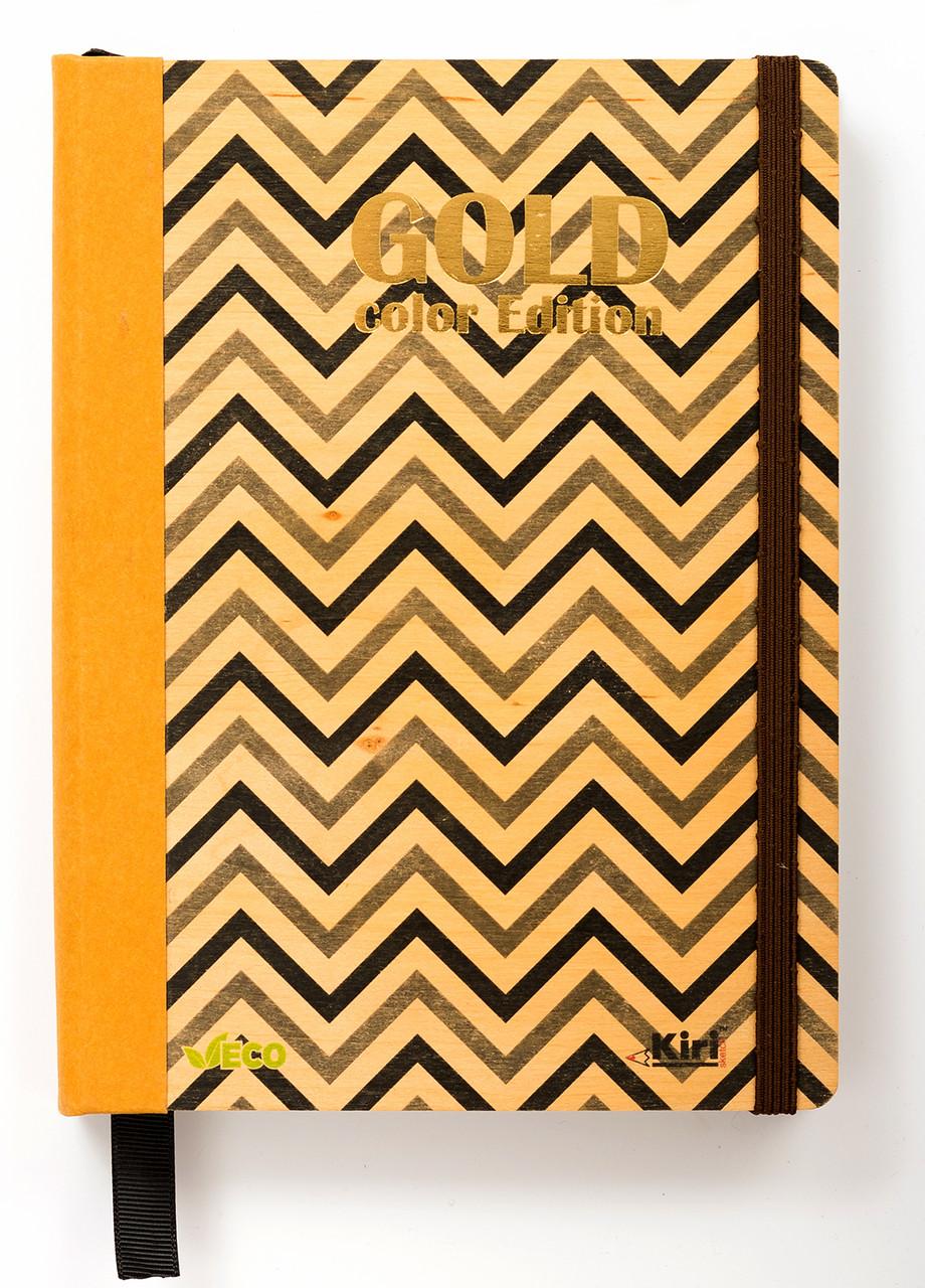 """Эко Записная книжка с черными листами А5 """"Black"""", деревянная в книжном переплете"""