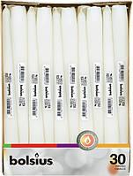 Свічка біла конічна Bolsius 24.5 см 30 шт (8717847029218)