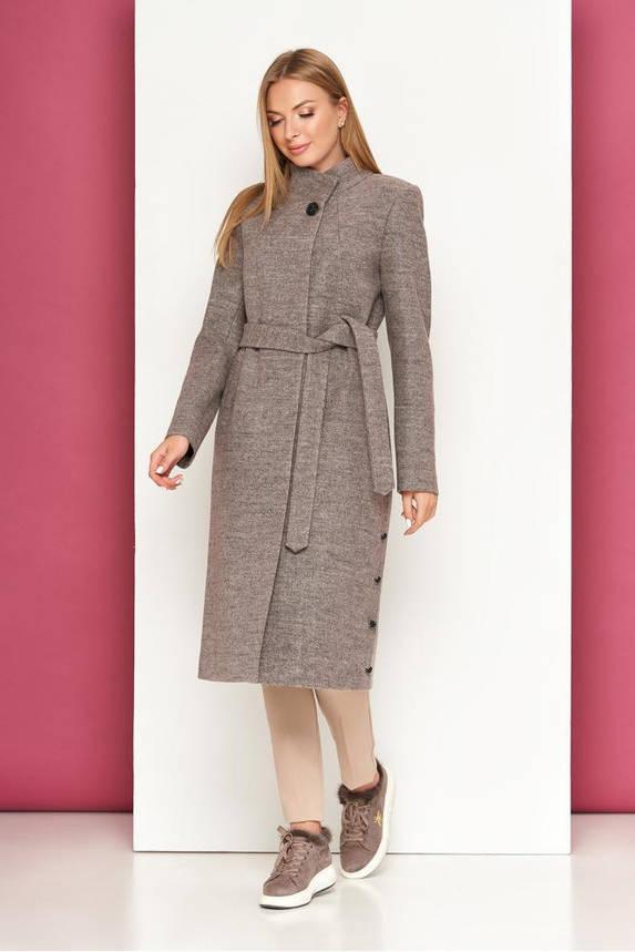 Женское шерстяное пальто осеннее капучино, фото 2