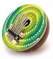 """Музыкальный инструмент """"Калимба"""" кокос d-13 h-9см  (29665)"""