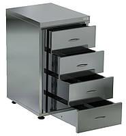 Медицинская тумба с 4-мя выдвижными ящиками Мебель из нержавеющей стали Медицинская мебель & Мебель из нержавеющей стали, Медицинская мебель, Медицинс