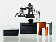 Декоративный стикер наклейка для интерьера дома  Red Tower bridge 75х50 см Черная