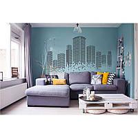 Декоративный стикер наклейка для интерьера дома  Red Mosaic city 96х55 см Черная