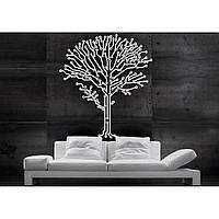 Декоративный стикер наклейка для интерьера дома Red Future tree 65х75 см Белая