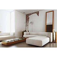 Декоративный стикер наклейка для интерьера дома  Red Giraffe 96х125 см Коричневая