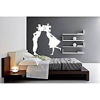 Декоративный стикер наклейка для интерьера дома  Red People puzzles 60х65 см Белая