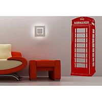 Декоративный стикер наклейка для интерьера дома  Red Phone booth, London 40х96 см Красная