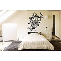 Оригинальная наклейка стикер для декора комнаты Red Radha Krishna 75х96 см Черная