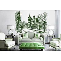 Дизайнерская наклейка стикер на стену, плитку, обои, мебель Red Kiev 180х120 см Зеленая