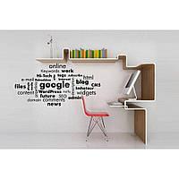 Стильная наклейка стикер для оформления спальни, гостиной, зала Red Tag cloud 96х50 см Черная
