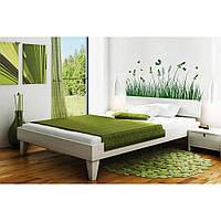 Стильная наклейка стикер для оформления спальни, гостиной, зала Red Grass 96х45 см Зеленая