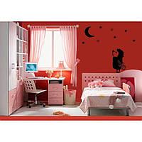 Стильная наклейка стикер для оформления спальни, гостиной, зала Red Hedgehog 50х96 см Черная
