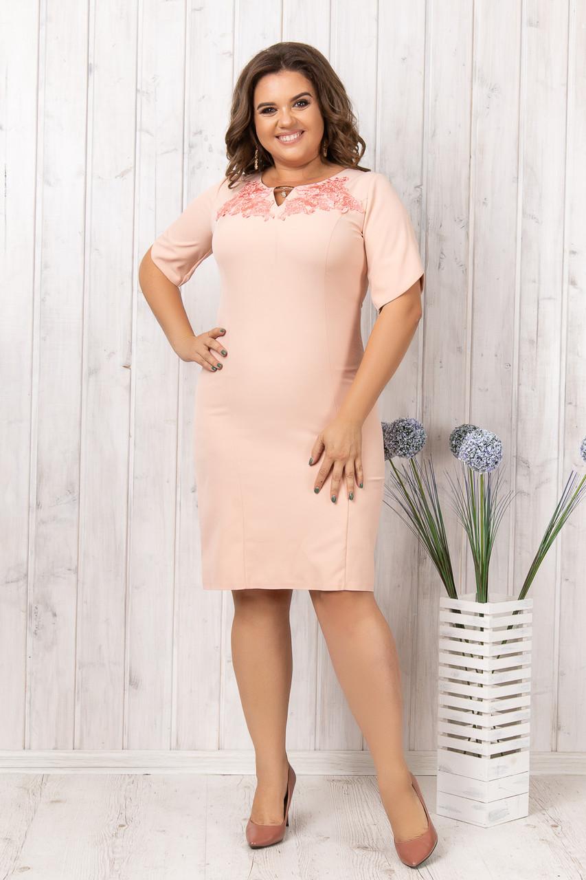 Легкое платье с кружевом 50-54