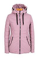 Удлиненная куртка женская демисезонная 42-60  пудра
