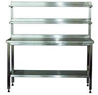 Стол производственный с двумя верхними полками Мебель из нержавеющей стали Столы производственные & Мебель из нержавеющей стали, Столы производственны