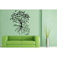 Интерьерная виниловая наклейка на стену Red Family tree 65х80 см Зеленая