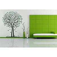 Декоративная наклейка стикер в спальню, прихожую, зал, кухню Red Tree 96х125 см Зеленая
