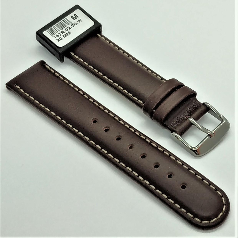 20 мм Кожаный Ремешок для часов CONDOR 147.20.02 Коричневый Ремешок на часы из Натуральной кожи