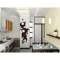 Декоративная наклейка стикер в спальню, прихожую, зал, кухню Red Brown abstraction 35х96 см Коричневая