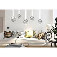 Декоративная наклейка стикер в спальню, прихожую, зал, кухню Red Lamps 1 96х75 см Черная