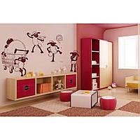 Красивая наклейка в интерьер кухни, прихожей, зала Red Ram 96х65 см Коричневая