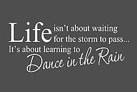 Интерьерная виниловая наклейка на стену Red Dance in the rain 96х40 см Белая