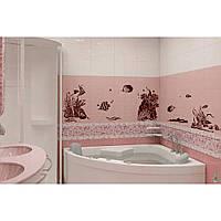 Красивая наклейка в интерьер кухни, прихожей, зала Red Underwater World 75х96 см Коричневая