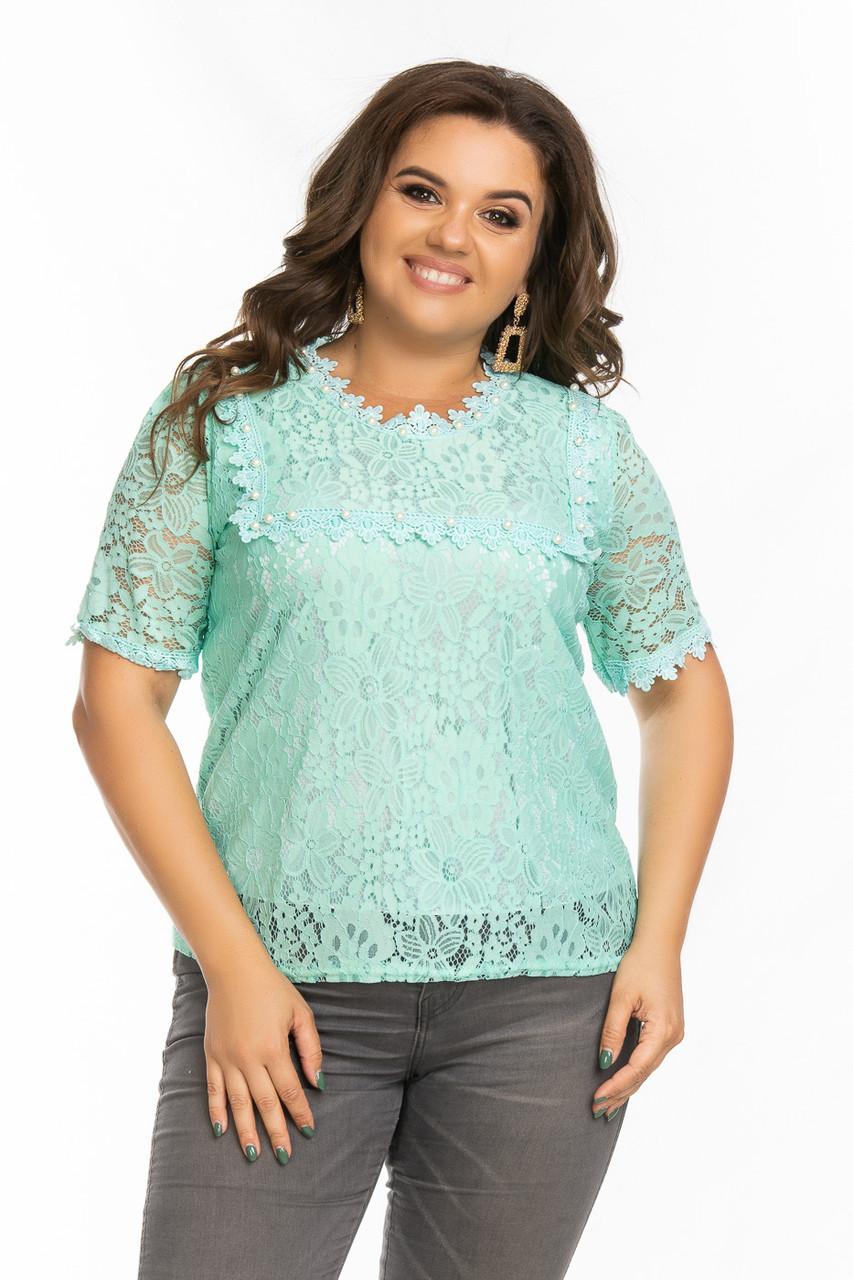 Женская блузка из гипюра 48-50 (в расцветках)