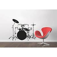 Красивая наклейка в интерьер кухни, прихожей, зала Red Rhythm 96х75 см Черная