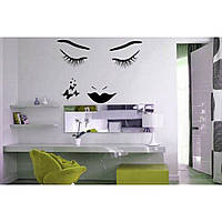 Красивая наклейка в интерьер кухни, прихожей, зала Red Dream 80х96 см Черная