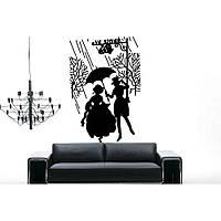 Водостойкая наклейка стикер для кафельной плитки, кухонной мебели, обоев, стен Red Date 65х96 см Черная