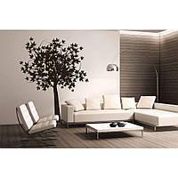 Водостойкая наклейка стикер для кафельной плитки, кухонной мебели, обоев, стен Red Maple 96х120 см Коричневая