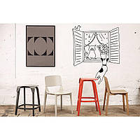 Водостойкая наклейка стикер для кафельной плитки, кухонной мебели, обоев, стен Red Cat and dog 60х75 см Черная