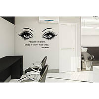 Водостойкая наклейка стикер для кафельной плитки, кухонной мебели, обоев, стен Red Stare 96х50 см Черная