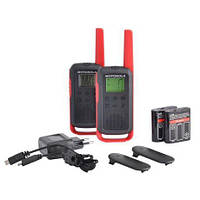 Комплект раций MOTOROLA TALKABOUT T62 RED TWIN PACK & CHGR WE (Гр8111)