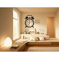 Водостойкая наклейка стикер для кафельной плитки, кухонной мебели, обоев, стен Red Wake up 60х50 см Черная