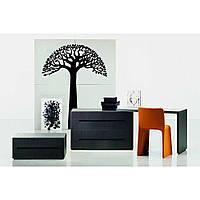 Водостойкая наклейка стикер для кафельной плитки, кухонной мебели, обоев, стен Red Wise tree 60х80 см Черная