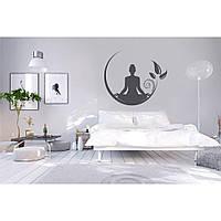 Водостойкая наклейка стикер для кафельной плитки, кухонной мебели, обоев, стен Red Meditation 80х70 см Серая