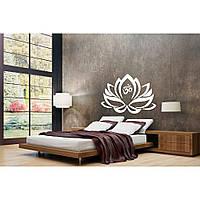 Водостойкая наклейка стикер для кафельной плитки, кухонной мебели, обоев, стен Red Lotus 96х60 см Белая