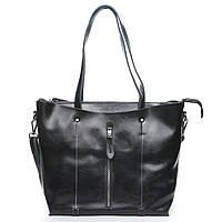 Женская сумка серого цвета из натуральной кожи, классика, фото 1
