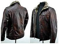 Зимние мужские куртки кож заменитель  8822, фото 1