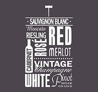 Цветная наклейка рисунок для декорирования интерьера Red Wine 55х96 см Белый