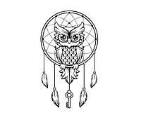 Стикер в детскую комнату Red Owl dreamcatcher 55х96 см Черный